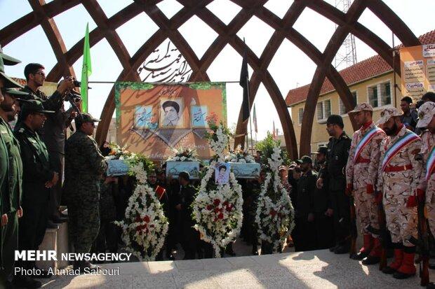 تشییع سه شهید هشت سال دفاع مقدس در سمنان