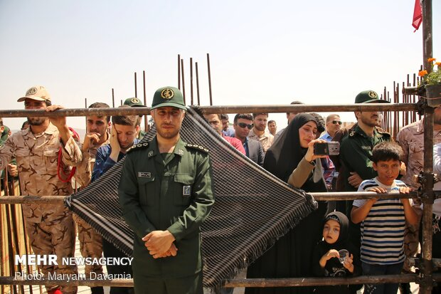 مراسم تشییع شهدای دفاع مقدس در بجنورد
