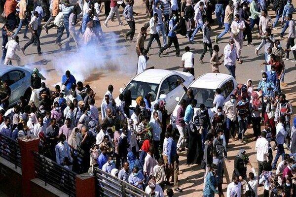 معترضان سودانی اطراف وزارتدفاع تجمع کردند