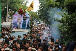 تشییع پیکر شهید مدافع حرم «علی آقایی»