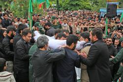 مدافع حرم شہید علی آقائی کی تشییع جنازہ