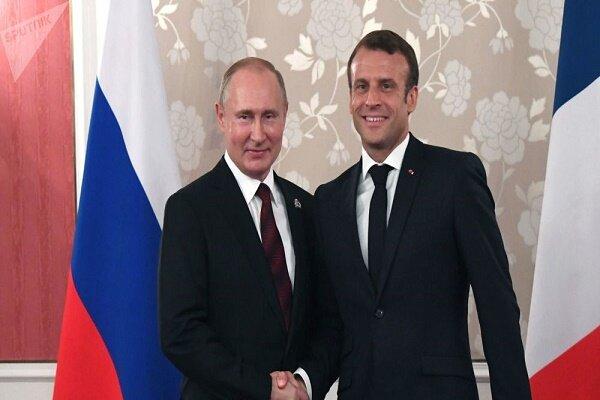 پوتین و ماکرون درباره تحولات سوریه رایزنی کردند