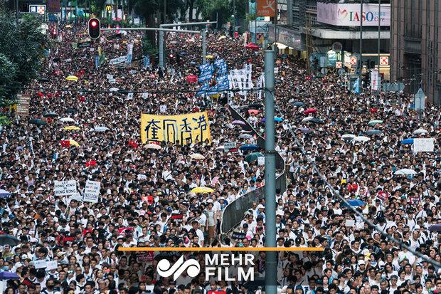 ہانگ کانگ میں چین کے ساتھ الحاق کے خلاف مظاہرے