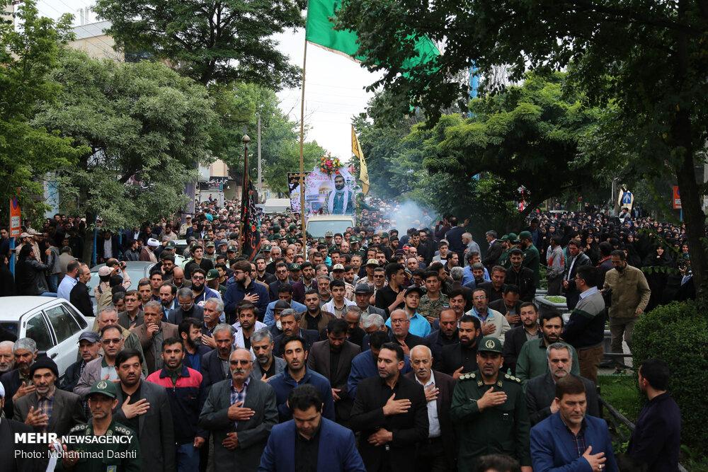 تشییع پیکر شهید مدافع حرم علی آقایی