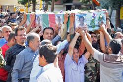تشییع پیکر مطهر «شهید حسین امینیان» در شاهرود