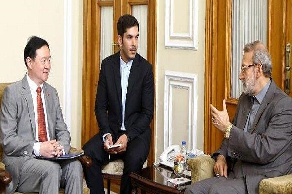 Larijani stresses expansion of Iran-China parliamentary relations