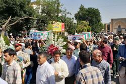 پیکر مطهر دو شهید تازه تفحص شده در قزوین تشییع شد