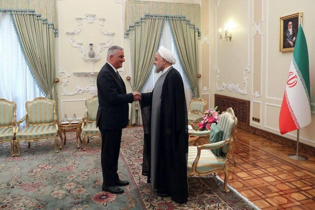 روحاني يستقبل مساعد رئيس الوزراء الارميني