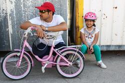مسابقه دوچرخه سواری به مناسبت روز دختر در تبریز