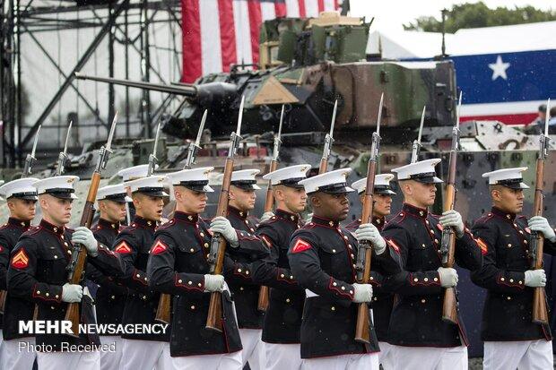 آتش زدن پرچم آمریکا مقابل کاخ سفید