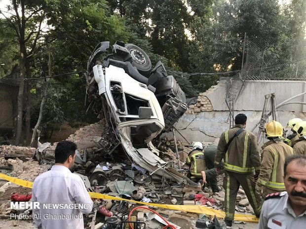 Cement truck crashes into Russian embassy wall in Tehran