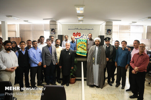 "Caravan of ""Under the Shadow of Sun"" visit MNA HQ"