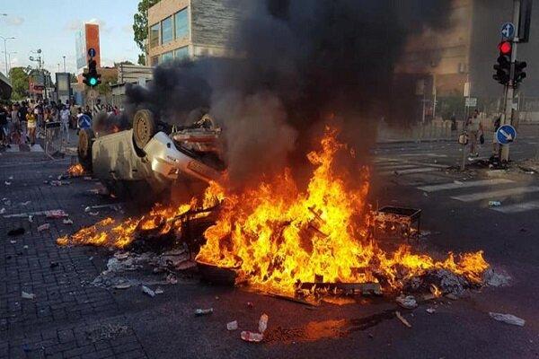 مقبوضہ فلسطین میں ایتھوپیا کے مظاہرین کا فلسطین آزاد کرانے  کا نعرہ