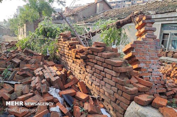طوفان در شمال چین