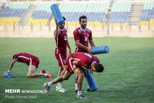 تمرین تیم فوتبال پرسپولیس زیر نظر گابریل کالدرون