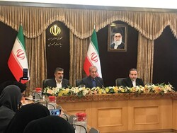 Deputy Foreign Minister Abbas Araqchi, Government spokesman Ali Rabiei, and spokesman for the Atomic Energy Organization of Iran (AEOI) Behrouz Kamalvandi