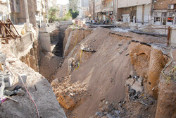 تبریز میں زمین کے اندر سے تاریخی آثار برآمد