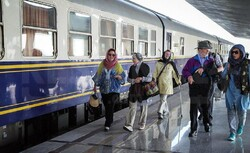 Foreign rail passengers to Mashhad on the rise