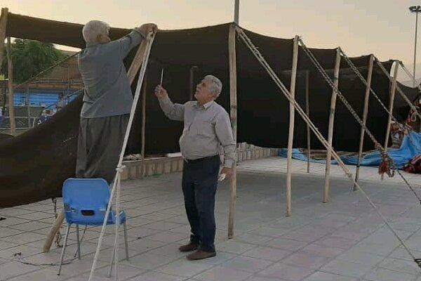 سیاه چادرهای جشنواره ملی فرهنگ عشایر برپا شد