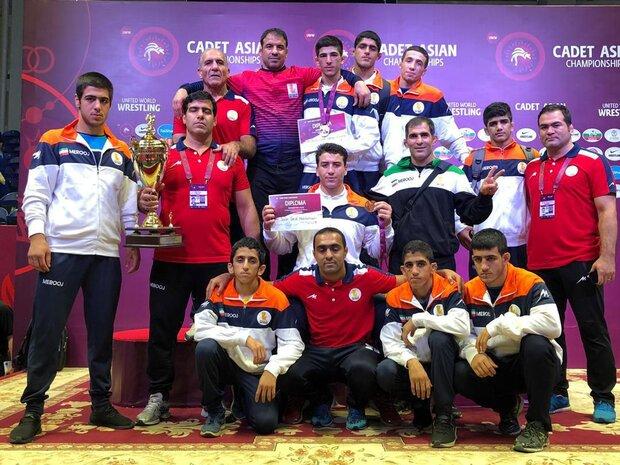 Iran freestyle team win 2019 Cadet Asian Championship