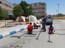 مردم مسجدسلیمان می توانند از چادرهای اسکان اضطراری استفاده کنند