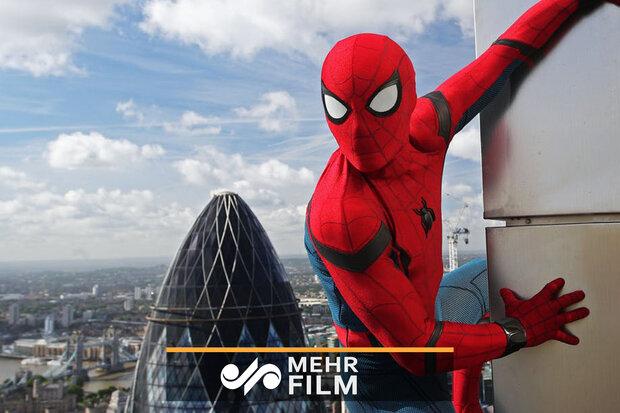 مرد عنکبوتی واقعی در لندن!