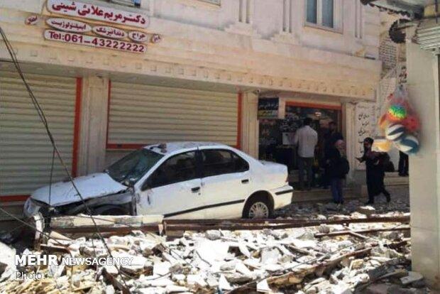 تخریب واحدهای تجاری در زلزله مسجدسلیمان