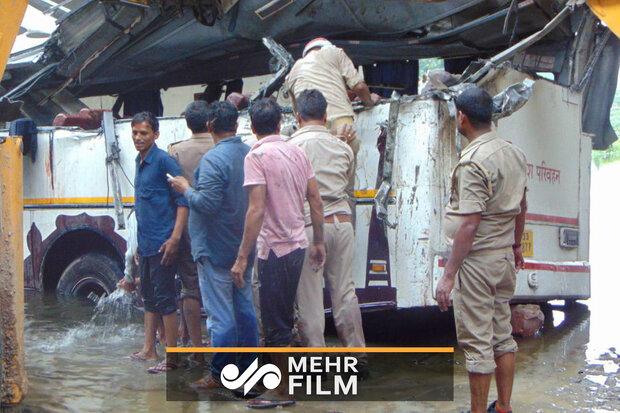 VIDEO: Bus crash in India kills 29