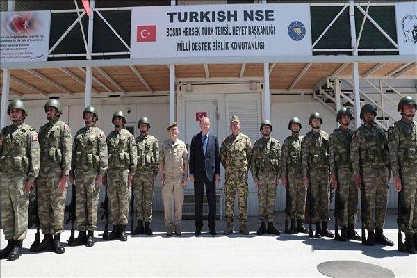 دیدار اردوغان با نظامیان ترکیه در بوسنی و هرزگوین