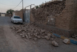 Earthquake damages in Golgir village, SW Iran