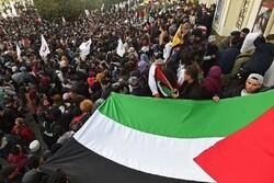 مظاهرات تونسية رفضاً لسياسة التطبيع