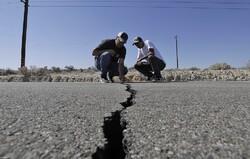 تصاویر ماهواره ای از شکاف صحرای مجاوه پس از زلزله کالیفرنیا