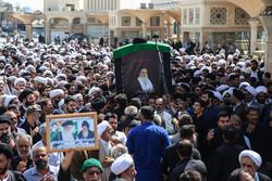 مرحوم آیت اللہ سید محمد حسینی شاہرودی کی تشییع جنازہ
