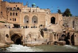 A view of the UNESCO-registered Shushtar Historical Hydraulic System in Khuzestan province