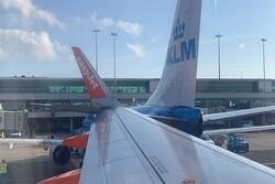برخورد ۲ هواپیما در فرودگاه آمستردام