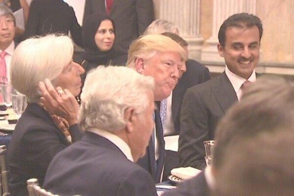 ترامپ ثروت دولت قطر را به تمسخر گرفت