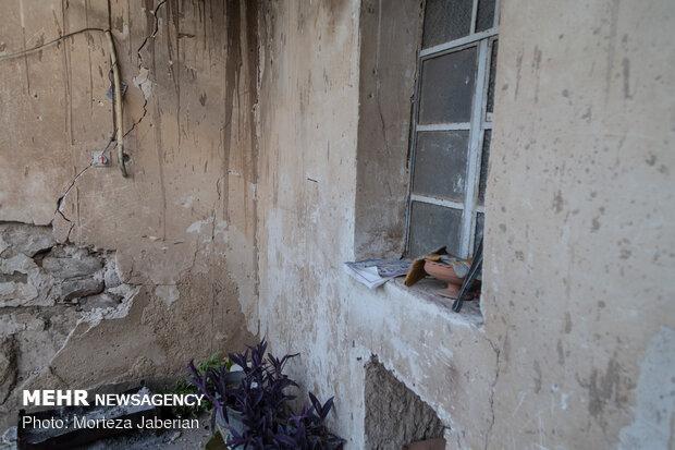 خسارات زلزله در روستای گلگیر-خوزستان