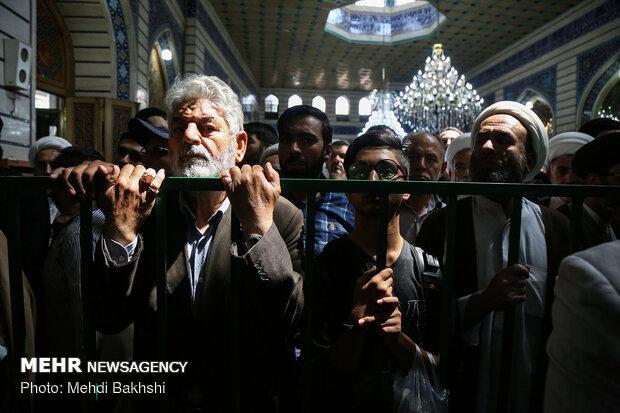 مراسم تشییع پیکر آیت الله سید محمد حسینی شاهرودی در قم