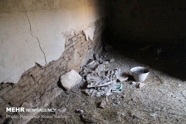 خسارات زلزله در روستاي گل گير