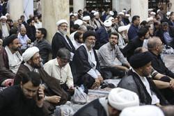 قم میں مرحوم آیت اللہ سید محمد حسینی شاہرودی کی یاد میں مجلس ترحیم