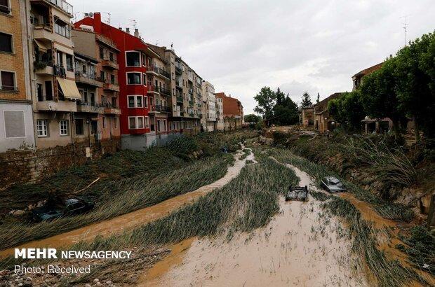 سیل در شمال اسپانیا