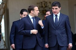 بارزانی رئیس جمهور فرانسه را به کردستان عراق دعوت کرد