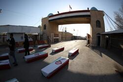 ورود پیکر مطهر ۴۴ شهید دفاع مقدس از مرز شلمچه - ۱