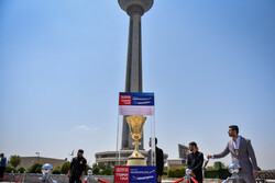 FIBA Basketball 2019 World Cup Trophy Tour arrives at Tehran