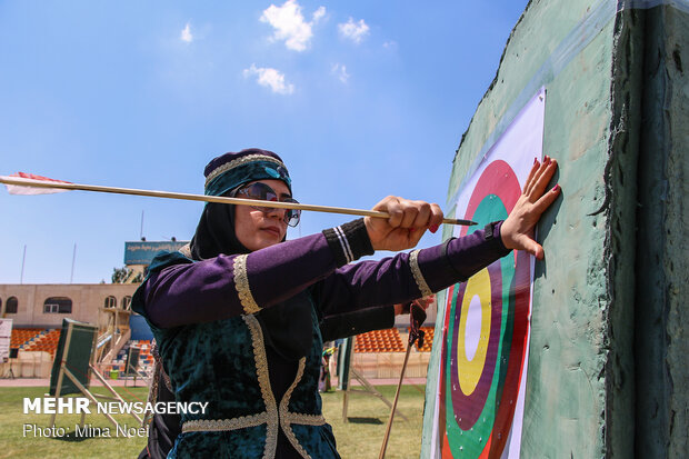 Traditional archery contest in Tabriz