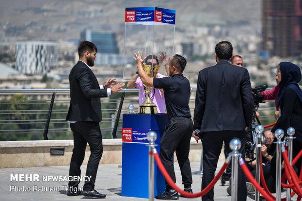 إزاحة الستار عن كأس العالم للسلة في برج ميلاد