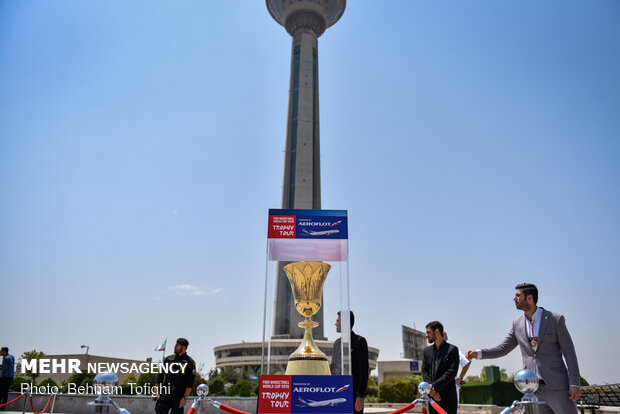 Mehr News Agency - FIBA Basketball 2019 World Cup Trophy Tour arrives at Tehran