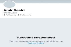 حساب توئیتری پر سروصدای ضدجمهوری اسلامی ایران مسدود شد