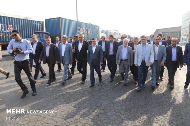بازدید میدانی وزیر اقتصاد از  دروازه طلایی اقتصاد ایران