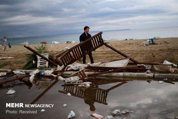 ده ها کشته و زخمی بر اثر طوفان یونان